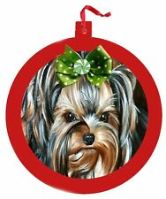 Yorskhire Terrier, Biewer Ornament Christmas Tree painting Dog Puppy Art