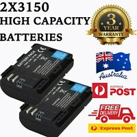 3150mAh Battery x 2 and Dual USB Charger for Canon LP-E6 LP-E6N + Warranty