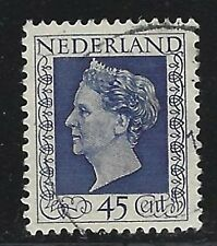 1948 Netherlands Scott #298 - 45c Queen Wilhelmina Stamp - Used