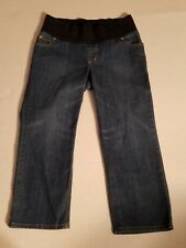Maternity Liz Lange Womens Sz 4 Cropped Jeans Capri Half Panel