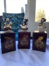 Boyds Bears 1998 Snowball Ornaments Lot Of 3 Nib