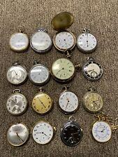 Waltham Elgin Gruen Caravelle Working Grandpas Pocket Watch Collection Lot