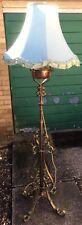 Fine Antique Victorian Arts & Crafts Brass Copper Adjustable Standard Lamp