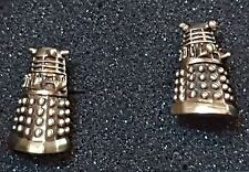 DOCTOR WHO DALEK CUFFLINKS (PAIR) GOLD COLOURED CAST METAL BBC ENTERPRISES