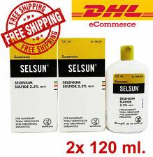 2x New Original SELSUN Anti Dandruff Shampoo Treatment Dry Scalp 120ml Free DHL.