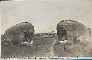 RPPC of Pingyang , China . Stone Animals in Chinese Burying Grounds