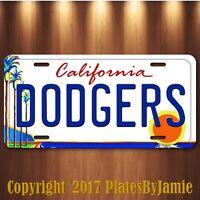 "Dodgers LA Palm Tree Aluminum License Plate Tag New Los Angeles 6"" x 12"" Car"
