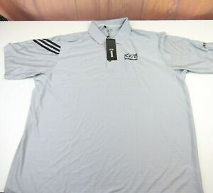 Adidas Men's Size 2XL Polo Shirt Grey Golf ClimaCool Clima Athletic S/S Logo