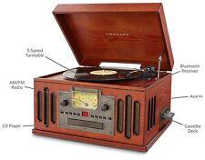 Toca Discos d 3 Velocidades con Radio, Aux-In y Bluetoot, toca Cassette y CD!