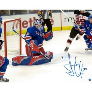 Henrik Lundqvist Signed 1st Career Win 16x20 Photo (Limited Edition of 30)