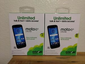 Cricket Wireless Moto E5 Cruise Prepaid Cell Phone Brand New Lot of 2 Resell
