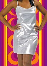 311✪ Glam Rock Party Abend Kleid Disco Queen Dancing silber Glitter Gr. 38