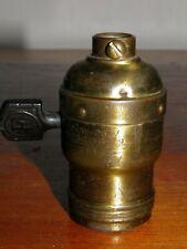 Vintage lamp parts Turn-Key #4 FAT BOY SOCKET SHELLS....Pull Chain