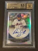 2013 Bowman Chrome Refractor Dominic Smith BGS 9.5/10 Rookie Autograph RC Auto
