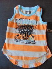Converse Cotton Rich Sleeveless 'Leopard' Striped Top 4-5y 104cm Orange Mix BNWT