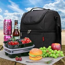 New Big Thermal Cooler Insulated Tote Lunch Bag Picnic BBQ Storage Box Portable