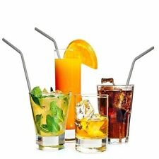 For Yeti 20/30oz Tumbler Metal Stainless Steel Drinking Straight Straws 4PCS &10