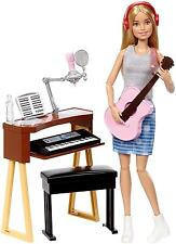 Barbie Girls Music Blonde Activity Playset Guitar Keyboard Mic Accessories