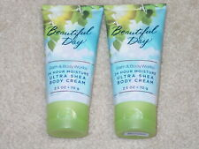 BATH AND BODY WORKS BODY CREAM BEAUTIFUL DAY BRAND NEW ULTRA SHEA TRAVEL SIZE *2
