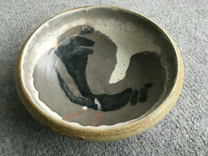 STUDIO POTTERY BOWL WITH IMPRESSED SEAL MAKER UNKNOWN