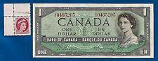 CANADA 1954 Canadian one 1 DOLLAR BILL NOTE prefix G/O + stamp VF-EF ?