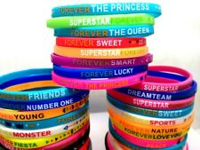 Lot 20Pcs Friendship Birthday Party Favors Girls Lady Bracelets Women Wristbands