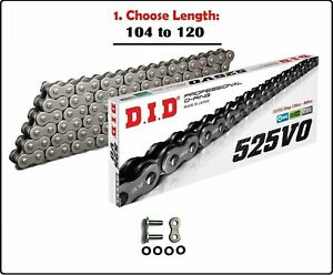 D.I.D DID 525 VO Oring Motorcycle Drive Chain Natural with Rivet Master Link