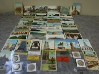 Lot of Early Vintage PA Related Postcards, Wooden Nickels & Tokens-Advertising