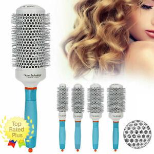 Round Barrel Hair Comb Professional Nano Thermal Ceramic Comb Curly Hair Brush