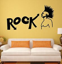 Wall Stickers Rock Music Teen Room Subculture Punk Mural Vinyl Decal (ig1546)