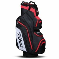 New Titleist Deluxe Golf Bag. Cart Bag. 14 Dividers. Black/White/Red