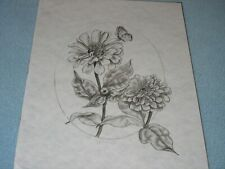 * Tri Chem 7306 F3 Flower And Butterfly Picture to paint Trichem