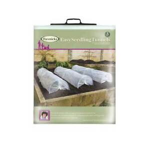 Set of 3 Small Poly Grow Tunnel Garden Greenhouse Mini Seed Seedling Cover