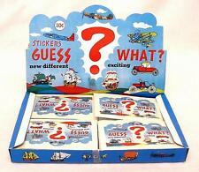 Guess What? 1970's Vintage Vehicles Puffy Stickers - Made in Taiwan
