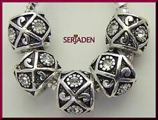 5 Iridescent Stone Antique Designed Spacers European 9 * 12 mm & 5 mm Hole  R033