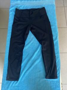 WOMENS LULULEMON LEGGINGS BLACK SZ 12