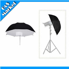 "84cm/33"" Black & Silver Reflective Umbrella Softbox for Photo Studio Lighting"