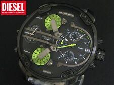 DIESEL SBA Mr. Daddy 2.0 DZ7311 Grigio Mimetico Uomo Watch Nero Scatola Nuovo di zecca, etichette.