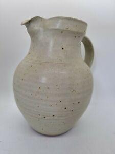 Winchcombe Pottery Studio Pottery Large Jug Pitcher Stoneware ~ Damaged Spout