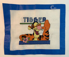 Completed FInished Counted Cross Stitch Tigger Tiger Portrait Mounted Frame