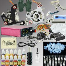 NEW 2 Machine Tattoo Kit  Guns Equipment 12 Ink Set Tattoo Needle Pigment_TA003