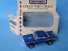 MATCHBOX Collectors Choice 1957 CHEVY corps bleu RARE USA Jouet Voiture Modèle Boîte 70 mm