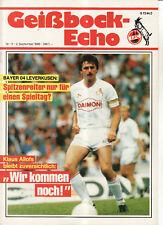 BL 86/87 1. FC Köln - Bayer 04 Leverkusen
