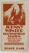 Johnny Winter / Brownsville Station - Vintage Original 1970's Backstage Pass