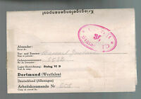 1941 Dortmund Germany Stalag 6D POW Prisoner of War Letter Cover to Belgium