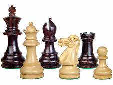 "Monarch Staunton Rose Wood Chess Set Pieces 3"" Weighted + 2 Extra Queens"