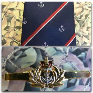 Royal Navy (Crest) Tie & Tie Bar Set RN Officer
