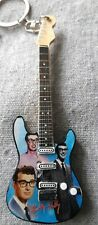 Buddy Holly 10cm Wooden Guitar Tribute Key Chain