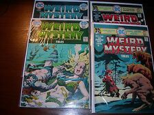 WEIRD MYSTERY TALES # 10, 11 ,21  and  #22    year 1974.