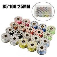 20pcs Sewing Thread Set with Metal Bobbins Sewing Machine Spools Threads DIY